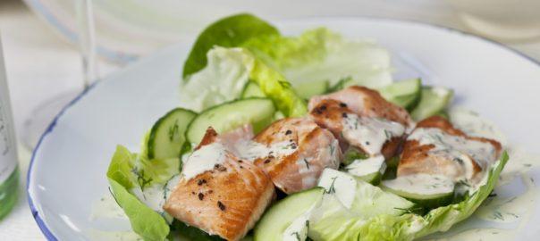 salmon cucumber dill salad monthly recipe